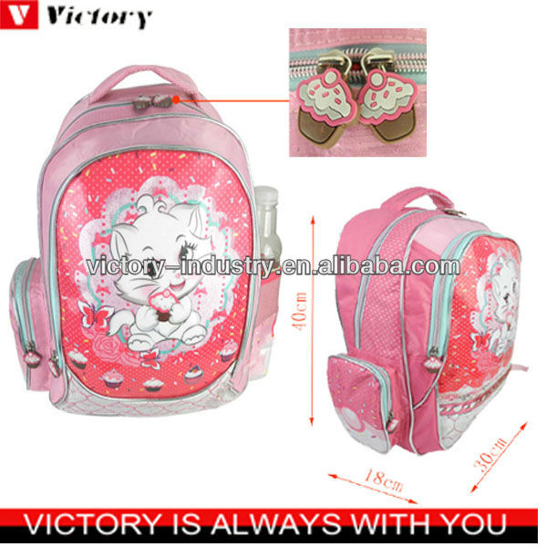 2015 new lovely girl picture school bags
