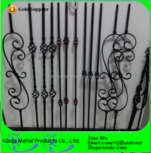 "44""Height, 1/2"" Indoor Hollow Iron Balusters With Satin Black Color For USA & Canada Market"