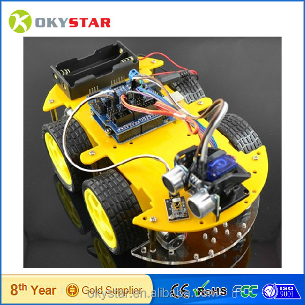 electric rc car kit Infrared / bluetooth smart car/diy rc car kit