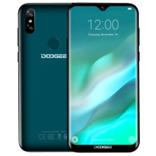 Water-drop Screen smartphone DOOGEE Y8 6.1 inch Android 9.0 <strong>mobile</strong> <strong>phone</strong> 3GB+32GB Face ID &amp; DTouch Fingerprint
