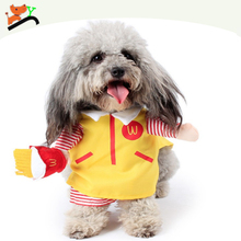 Funny Halloween Pet Cat Dog Mcdonald Costume,Jacket Coat Jumpsuit Clothes For Dog