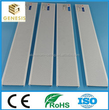 High quality aluminum C shape strip ceiling suspended acoustical ceiling panel design