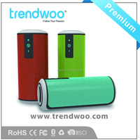 High quality wireless portable cylindrical speaker with rohs certs