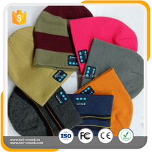 High Quality wireless Bluetooth Cap,fashion bluetooth hat,color woolen hat with free sample