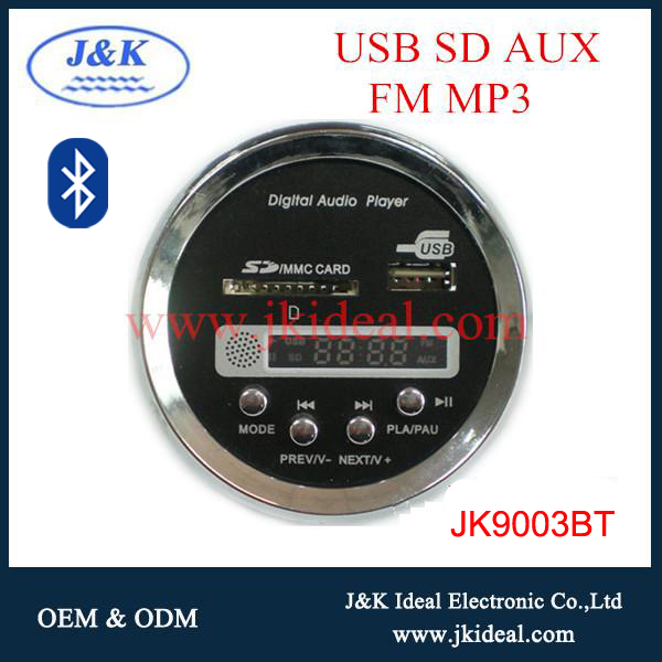 JK9003BT Hot sale led display car motorcycle radio mp3 fm am transmitter