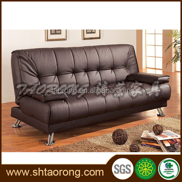 upholstery PU leather modern folding sofa designs