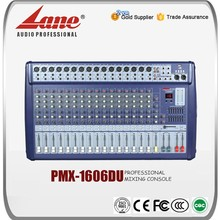 Lane 16 channel USB music mixer with amplifier PMX - 1606DU