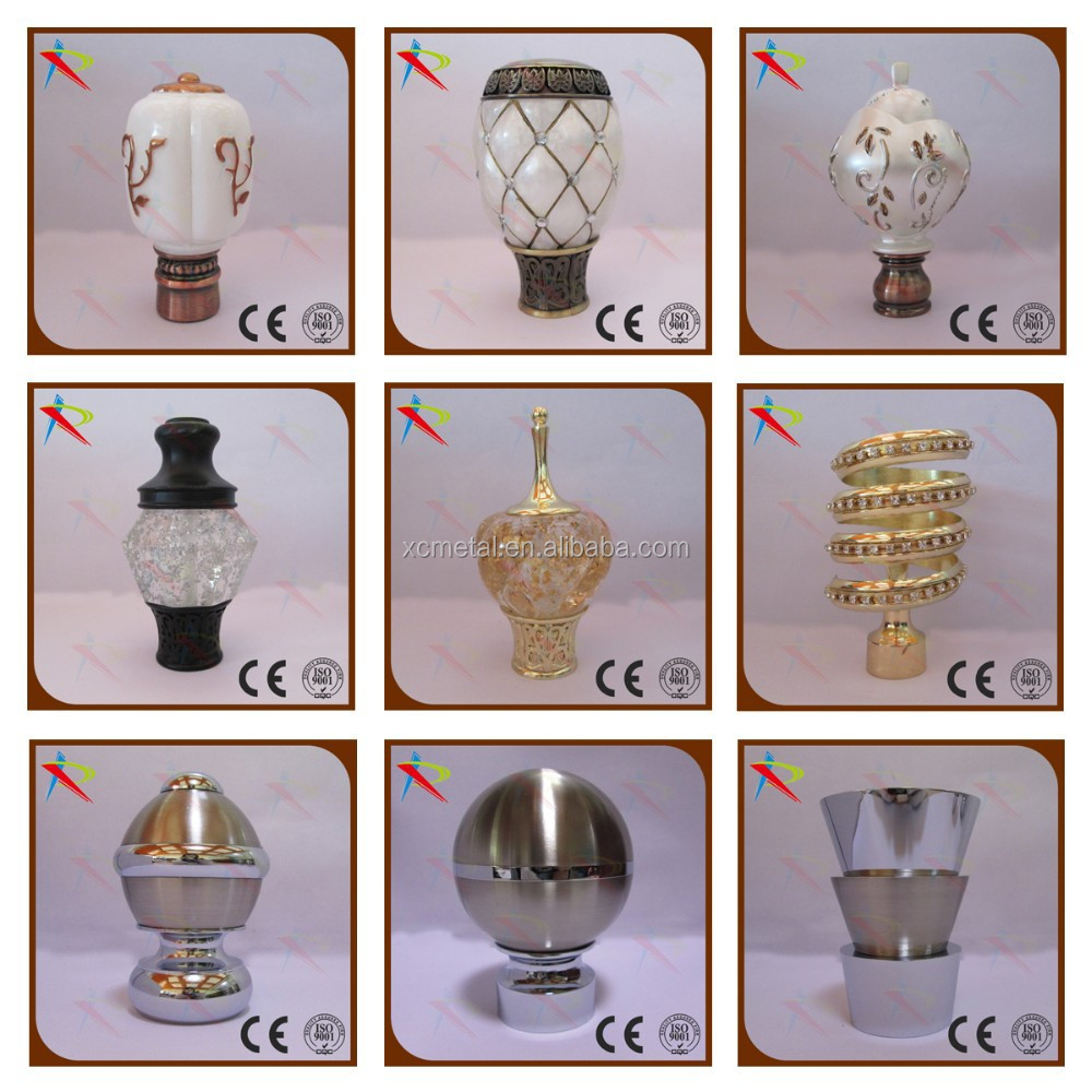Home Decorated Curtain Rod,Curtain Finial,Curtain End Cap,Curtain Cap ...