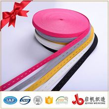 High quality colored eyelet elastic tape button hole knitted bands