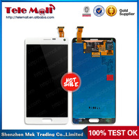 High Quality White LCD display for SamSung galaxy note 4 N9100 with Touch Screen Digitizer Assembly