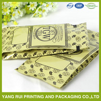 custom printing aluminum foil coffee pouch/coffee plastic packaging bag