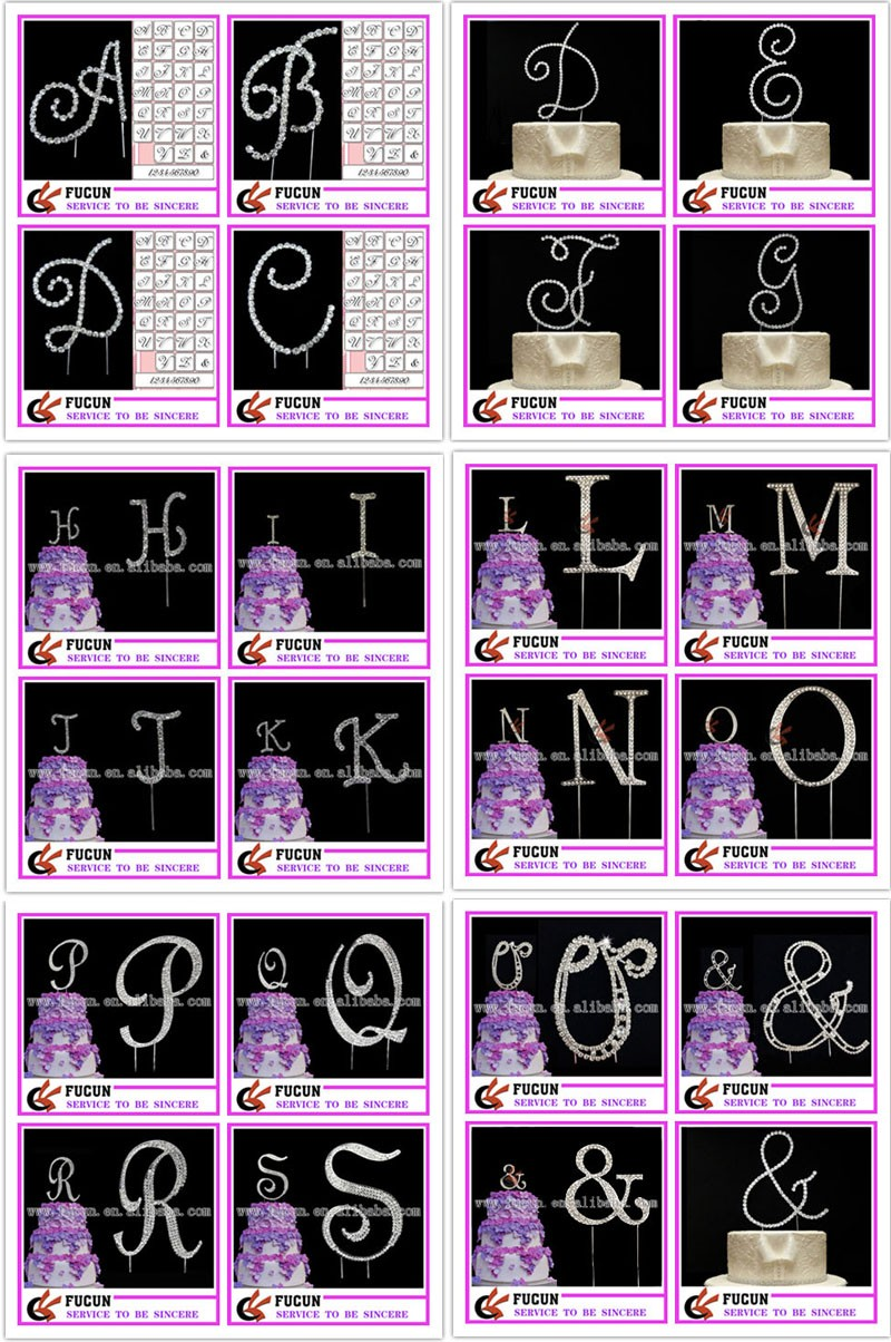 2016 dazzling cake topper crystal clear number cake topper