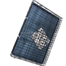Folding Dog Crate Plastic Pallet ,Wire Mesh Dog Kennel
