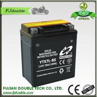 Ytx7-bs motorcycle battery12volt 7ah sealed acid high quality battery
