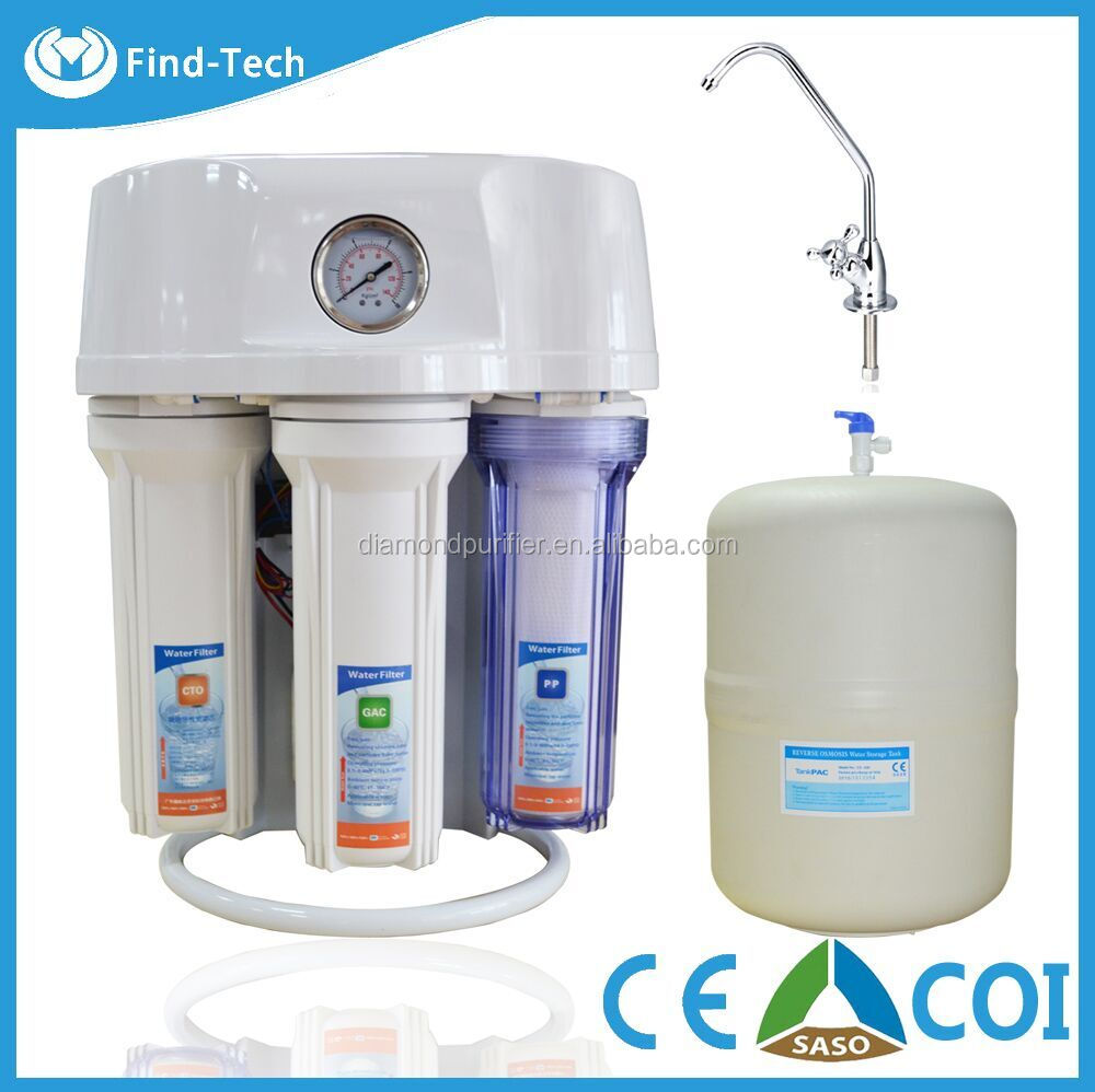 5 stage ro water purifier for kitchen/ro 50g water filter with dusty cover nice look