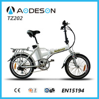 Aodeson2014,mini folding motorcycle 250w city bicycle, 24v li-ion battery powered electric bike for hot sale in EU, EN15194