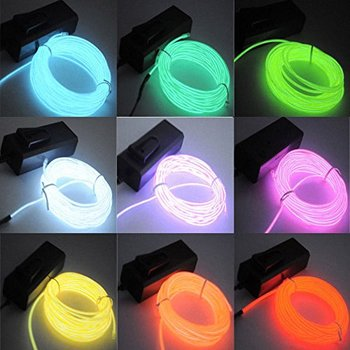 Electroluminescent wire fine green lighting el wire roll