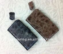 Snake skin leather flip case for iphone 4g
