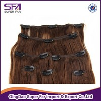 Hot new products for 2015 best selling clip in hair extension