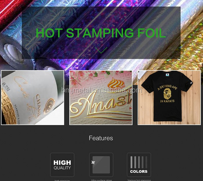Rose Gold Green Hot Stamping Foil Suppliers