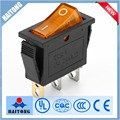 Factory wholesale 16a 250v 3pin orange led cooker hood switch rocker switch
