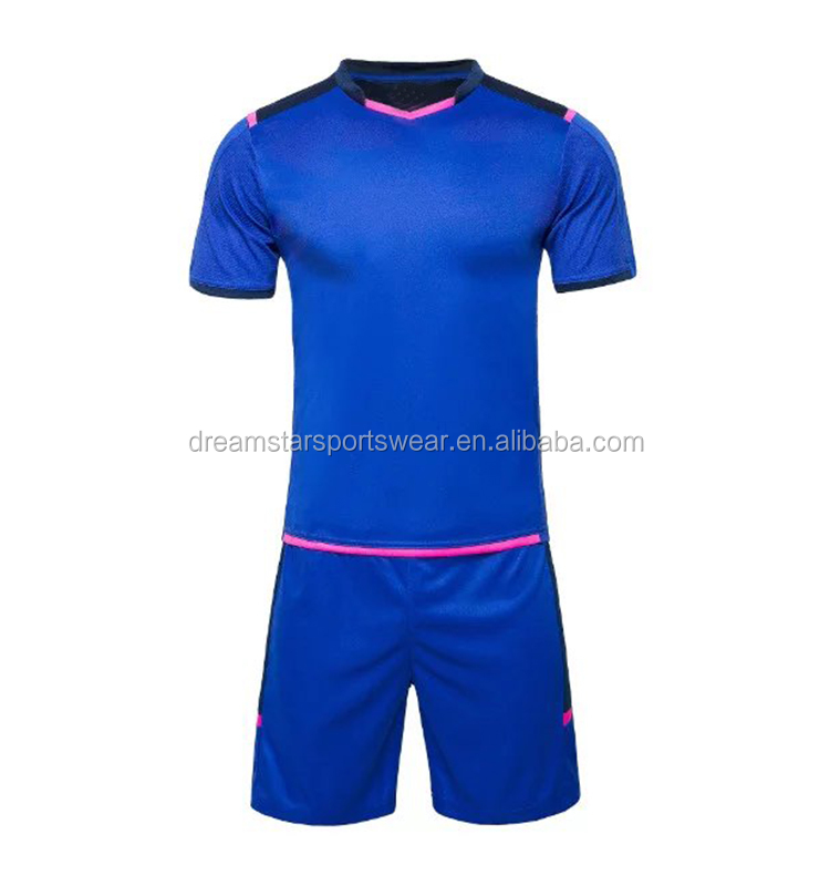 Bottom Price Blue Training Soccer Jersey Shirt