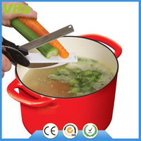 2-in-1 Food Chopper Cutter - Replace Your Kitchen Knives and Cutting Boards