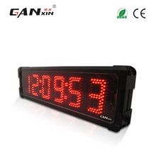 [GANXIN]7 Segment Red Shakeproof Double Side Adjustable Brightness Led Digital Race Timer Race Timing Clock