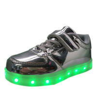 wholesale and customs high quality international LED kid shoe