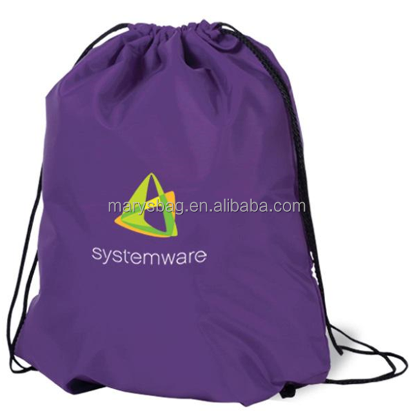 Premium Poly Drawstring Backpack In Brilliant Colors