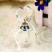 2015 small crystal heart shape perfume bottles from china