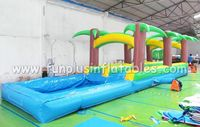 Inflatable crazy surffing slides, slide Fun with pool F4003