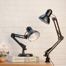 Swing Arm Desk Lamp Long Metal Architect LED Task Light with Clamp Adjustable Folding Clip-on Table Lamp