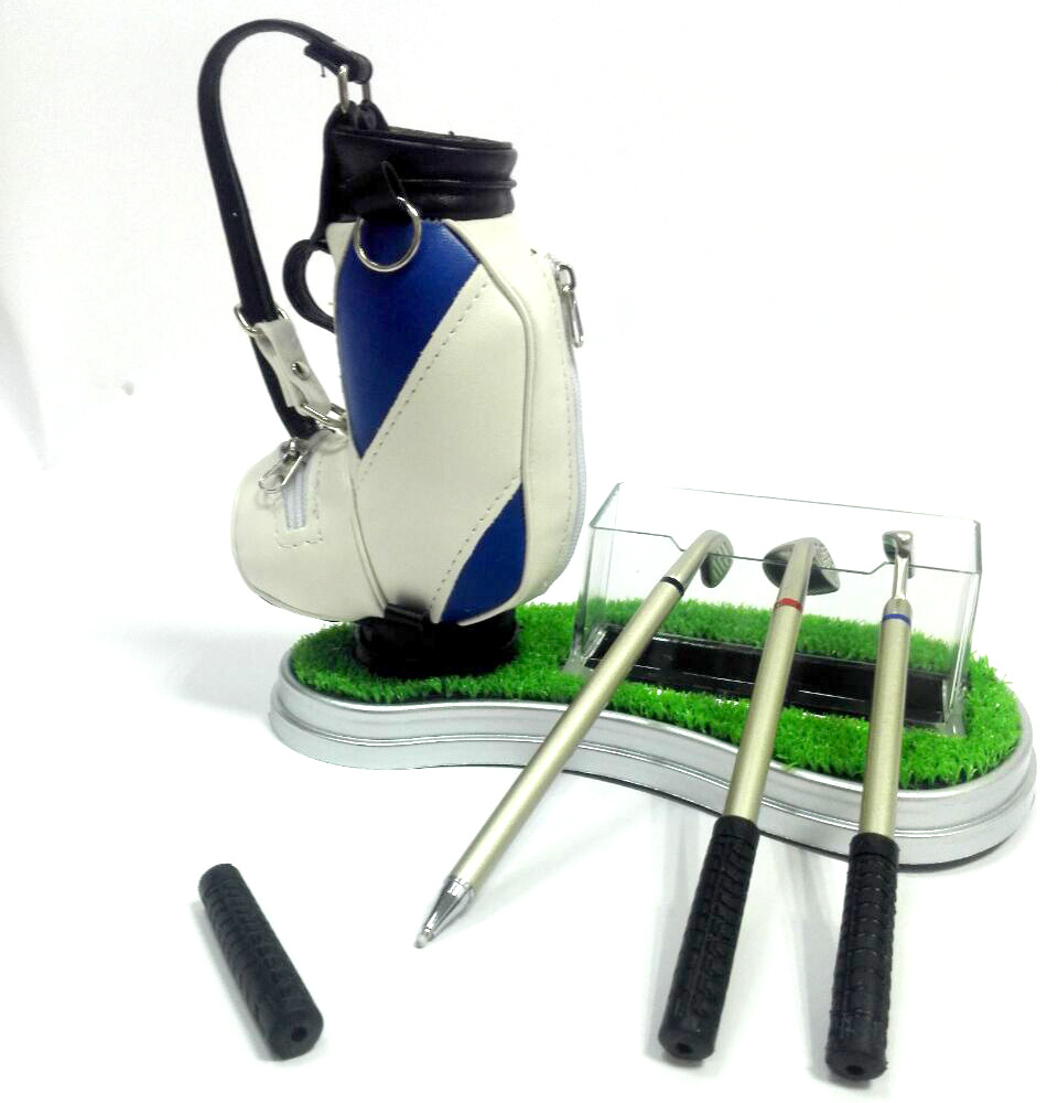 Custom Logo Original Mini Golf Trolley Golf Bag with Desk Top Pen container andCard case