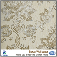 Barca brand Italian style deep embossed wallpaper for hotel decoration