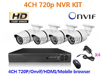 4CH IP Camera CCTV NVR Kit P2P Network Outdoor Waterproof 1.3MP 960P IR IP Security camera System (NVR-KIT104/960P)