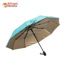 Promotion Outdoor Umbrella 10 Ribs Automatic Gold Coating Unique Design High Quality