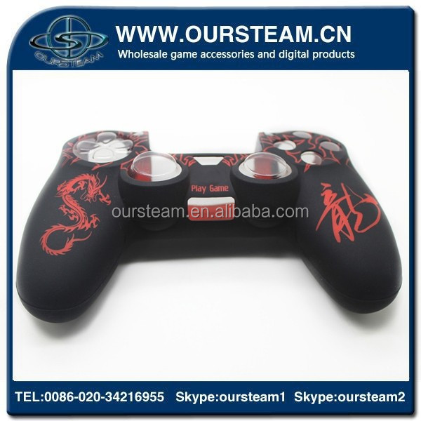 brand new red waterproof silicone case for ps4 games controller