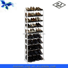 30-pair white plastic shoes shelf outdoor shoe rack