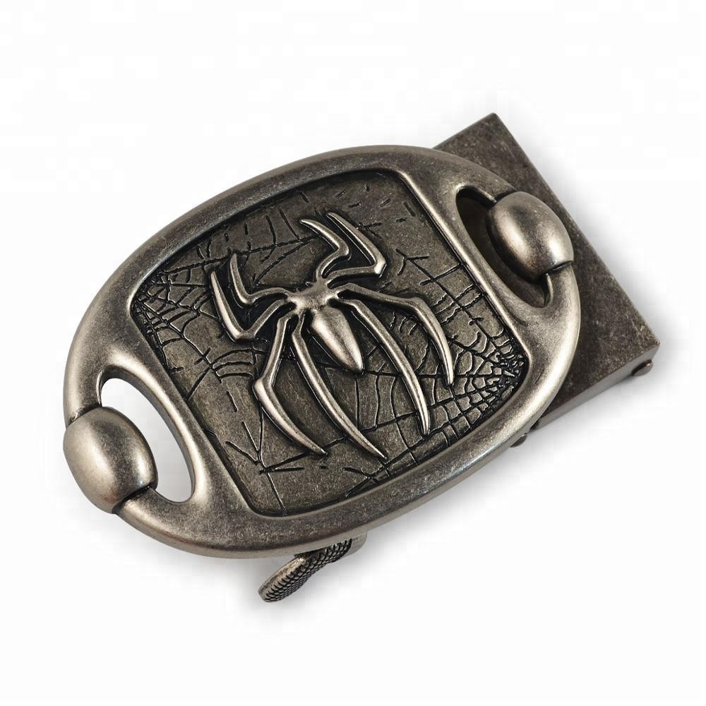 Spider Pattern Army Metal Belt Buckles Automatic Lock Buckle