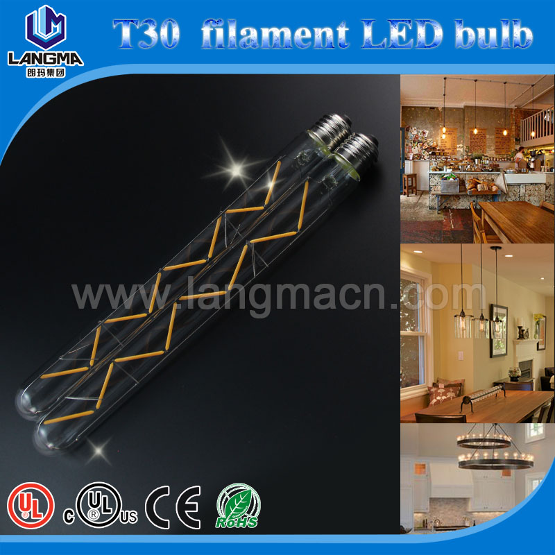 led chrismas light best seller led filament bulb light wide voltage range with E26/B22 base 2w-8w 125-300mm langma