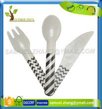 Strong Custom Printed Disposable Paper Cutlery
