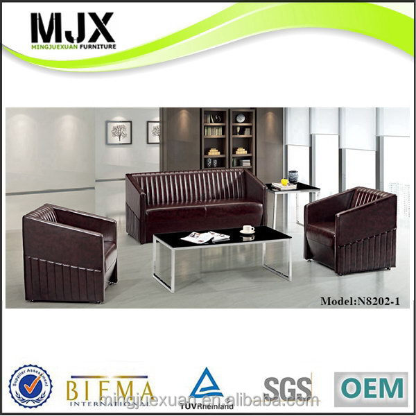 Excellent quality best sell black leather modern office sofa