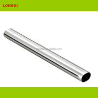 wardrobe tube oval 25 mm x 12.5 mm chrome plating