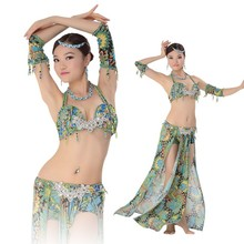Hot Leopard Egyptian Designs Belly Dance PeacockPerformance Suit Clothing Set Bra Top & Skirt Belly Dance Wear Sexy Costume