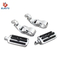 "Motorcycle Highway Foot Pegs Footrest Pedals Clamp For 1.25"" engine guards"