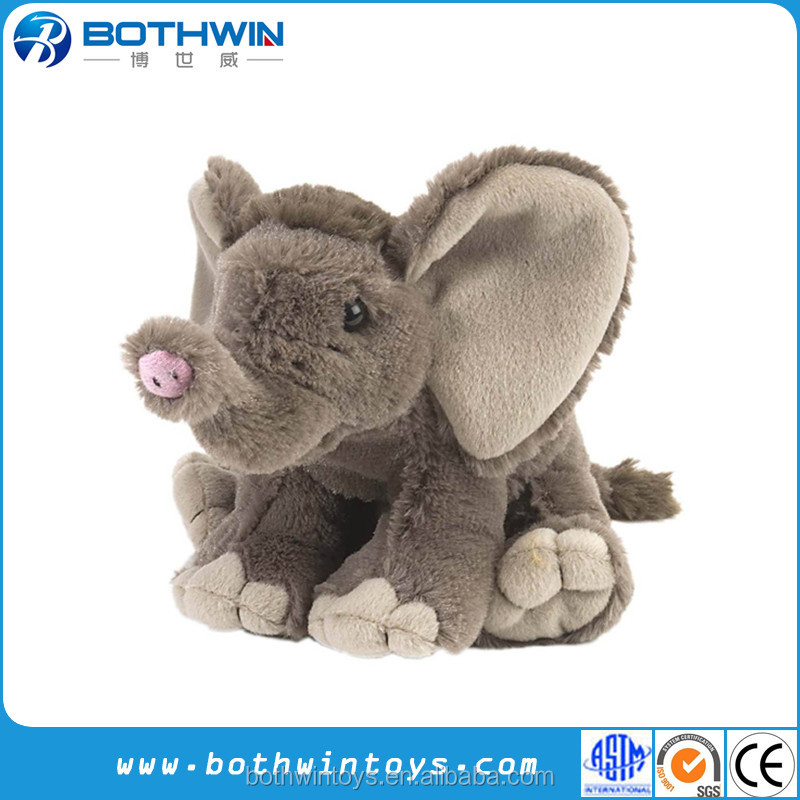8 Inch Mini African Baby Elephant Stuffed Animal