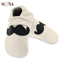 Top Quality Handmade Baby Beard White Soft Sole Loafers
