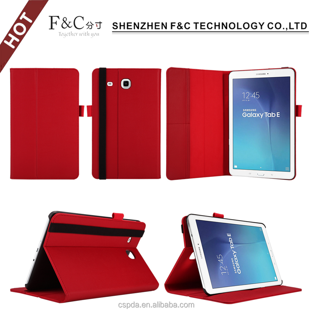 Fast selling on amazon,PU leather folio case for samsung galaxy tab e 9.6 t560 tablet with stand