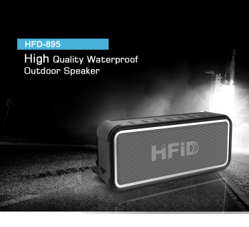 Dual 5W Driver Mini Waterproof Bluetooth Shower Speaker
